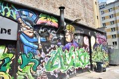Grafittis em Varsóvia Fotografia de Stock Royalty Free