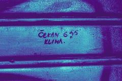 Grafittis em Zagreb imagem de stock royalty free