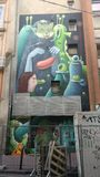 Grafittis franceses modernos Fotos de Stock