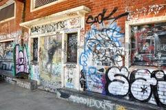 Grafittis: Freo, Austrália Ocidental Fotografia de Stock Royalty Free