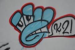Grafittis K2 em uma parede cinzenta em Portland, Oregon Foto de Stock Royalty Free