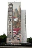 Grafittis na cidade de Angulema, capital da banda desenhada Foto de Stock