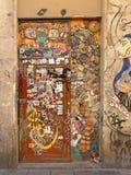 Grafittis na cidade de Barcelona Barcelona, Spain Imagens de Stock Royalty Free
