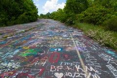 Grafittis na cidade fantasma Centralia Fotos de Stock Royalty Free