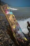 Grafittis na costa Imagens de Stock
