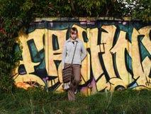 Grafittis na natureza Imagens de Stock Royalty Free