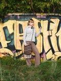 Grafittis na natureza Imagem de Stock