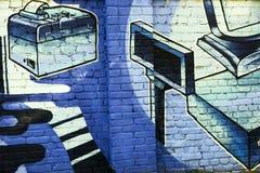 Grafittis na parede Fotos de Stock