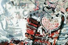 Grafittis na parede. Imagem de Stock