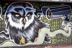 Grafittis na parede Imagem de Stock Royalty Free