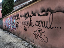Grafittis na parede Imagens de Stock Royalty Free
