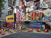 Grafittis na parede de Banguecoque 02 imagens de stock royalty free