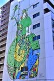 Grafittis na parede em Japão imagens de stock