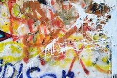 Grafittis na parede velha Foto de Stock Royalty Free