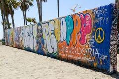 Grafittis na praia Fotos de Stock Royalty Free