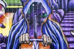 Grafittis na rua foto de stock