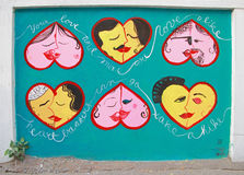 Grafittis na rua em Kolkata Foto de Stock Royalty Free