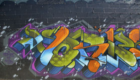Grafittis na vizinhança do leste de Williamsburg em Brooklyn, New York Imagem de Stock Royalty Free