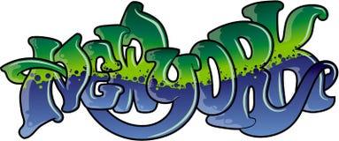 Grafittis New York Imagens de Stock