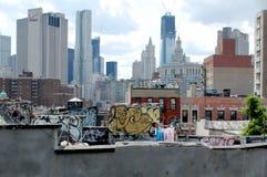 Grafittis New York City Fotografia de Stock