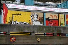 Grafittis no banco sul Imagens de Stock Royalty Free