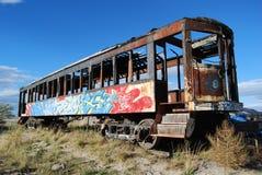 Grafittis no carro de trem Imagens de Stock