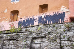 Grafittis no centro de Tallinn velho Imagem de Stock Royalty Free