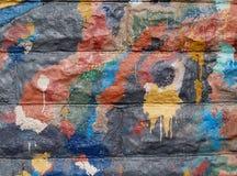 Grafittis no lado de um edifício público Foto de Stock Royalty Free