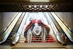 Grafittis no metro. Imagens de Stock