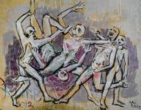 Grafittis no vis Foto de Stock Royalty Free