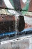 Grafittis pintados na parede de tijolo Fotos de Stock Royalty Free