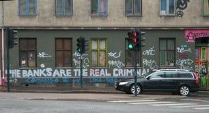 Grafittis políticos Imagem de Stock