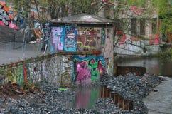 Grafittis políticos Imagens de Stock Royalty Free