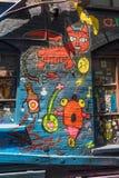 Grafittis psicadélicos em Melbourne Fotografia de Stock