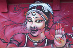 Grafittis que representam a mulher árabe Fotos de Stock Royalty Free