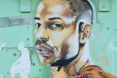 Grafittis que representam o Henry thierry do jogador de futebol Foto de Stock