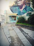 Grafittis, Rijeka, Croácia imagens de stock