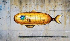 Grafittis submarinos Foto de Stock