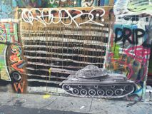 Grafittis - tanque Imagens de Stock Royalty Free