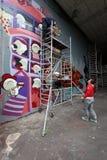 Grafittis Team Work imagens de stock