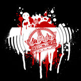 Grafittis vermelhos da coroa ilustração stock