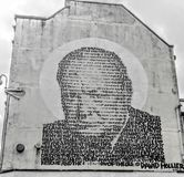 Grafittis Winston Churchill Fotos de Stock Royalty Free