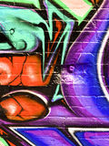 grafittisegment Arkivfoton