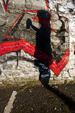 Grafittisilhouette Royaltyfria Bilder