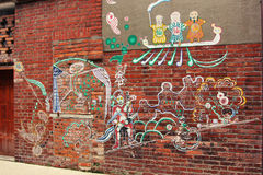 grafittitaiwanes Arkivbild