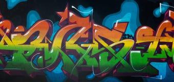 Grafittiteckning med ærosolmålarfärger royaltyfria bilder