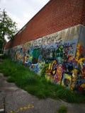 Grafittivägg royaltyfri foto