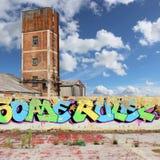 Grafittivägg Arkivbilder