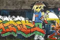 Grafittivägg Royaltyfria Foton