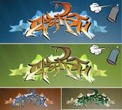 grafittivägg vektor illustrationer